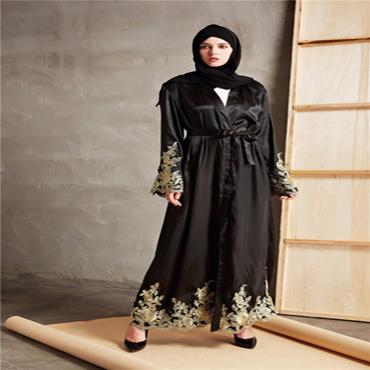 Golden Lace Abaya